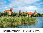 trakai island castle at the lake | Shutterstock . vector #1190319496