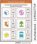 math skills training visual... | Shutterstock .eps vector #1190327719