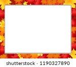 vector frame  border with... | Shutterstock .eps vector #1190327890