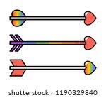 cupid rainbow arrows set with... | Shutterstock .eps vector #1190329840