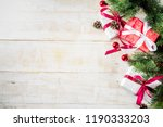 christmas background with... | Shutterstock . vector #1190333203
