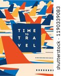 time to travel and airport... | Shutterstock .eps vector #1190339083
