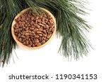 cedar pine nuts | Shutterstock . vector #1190341153