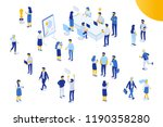 isomeric office people vector... | Shutterstock .eps vector #1190358280