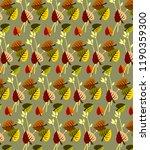 autumn leaves  beautiful... | Shutterstock .eps vector #1190359300