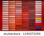 various interior decor samples... | Shutterstock . vector #1190372290