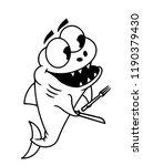 predatory fish with teeth ... | Shutterstock .eps vector #1190379430