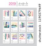 creative calendar template for... | Shutterstock .eps vector #1190379649