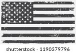 american flag in grungy style... | Shutterstock .eps vector #1190379796