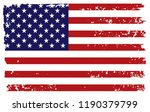 american flag in grungy style... | Shutterstock .eps vector #1190379799