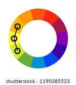 analogous color scheme wheel.... | Shutterstock .eps vector #1190385523