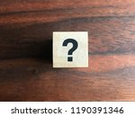 sign question mark on a wood... | Shutterstock . vector #1190391346