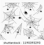 spiderweb vector illustration... | Shutterstock .eps vector #1190393293