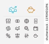 capital icons set. petroleum...