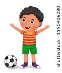 boy with a ball vector...   Shutterstock .eps vector #1190406280