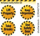an image of a workplace safety... | Shutterstock .eps vector #1190407159