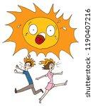 an image of a hot summer sun... | Shutterstock .eps vector #1190407216