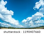 clouds. blue sky background... | Shutterstock . vector #1190407660