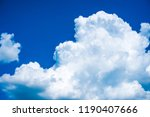 clouds. blue sky background... | Shutterstock . vector #1190407666