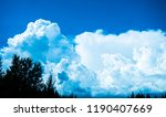 clouds. blue sky background... | Shutterstock . vector #1190407669