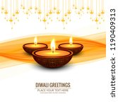 beautiful happy diwali... | Shutterstock .eps vector #1190409313