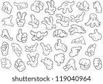 hand gestures   vector... | Shutterstock .eps vector #119040964