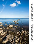 a view of the lake from the... | Shutterstock . vector #1190410246