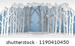 the winter season with trees... | Shutterstock .eps vector #1190410450