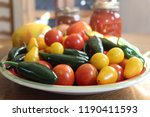 variety of tomatoes and peppers ...   Shutterstock . vector #1190411593