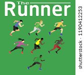 the runner run ran for health... | Shutterstock .eps vector #1190412253