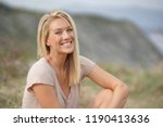 portrait of beautiful 40 year... | Shutterstock . vector #1190413636