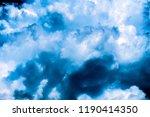 dark storm clouds. overcast sky. | Shutterstock . vector #1190414350
