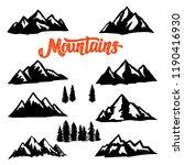 set of mountain peaks... | Shutterstock .eps vector #1190416930