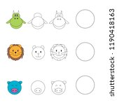 drawing by example for children ... | Shutterstock .eps vector #1190418163