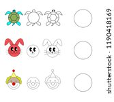 drawing by example for children ... | Shutterstock .eps vector #1190418169