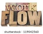 workflow   isolated word in... | Shutterstock . vector #119042560