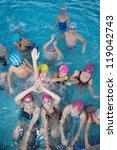 happy children kids group  at... | Shutterstock . vector #119042743