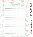 cute to do list vector... | Shutterstock .eps vector #1190429260
