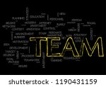team topic collage of words on... | Shutterstock .eps vector #1190431159