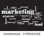 marketing business topic... | Shutterstock .eps vector #1190431426
