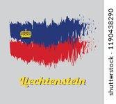 brush style color flag of... | Shutterstock .eps vector #1190438290
