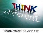 think different concept  words... | Shutterstock . vector #119044549