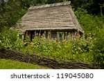 Traditional Wooden House. Old...