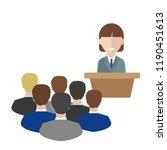 female speaker doing... | Shutterstock .eps vector #1190451613