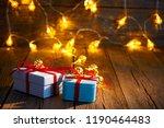 christmas gift vintage rustic...   Shutterstock . vector #1190464483