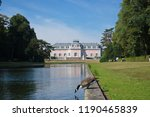 duck bend down and drink water...   Shutterstock . vector #1190465839