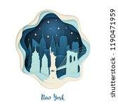 paper art illustration of new...   Shutterstock .eps vector #1190471959