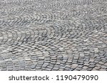 cobbled square background  ...   Shutterstock . vector #1190479090