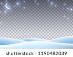 winter landscape with empty... | Shutterstock .eps vector #1190482039