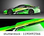 car decal wrap design vector.... | Shutterstock .eps vector #1190492566